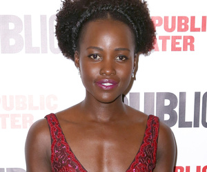 "Lupita Nyong'o Stuns In Sparkly Red Dress at ""Eclipsed"" Opening Night"