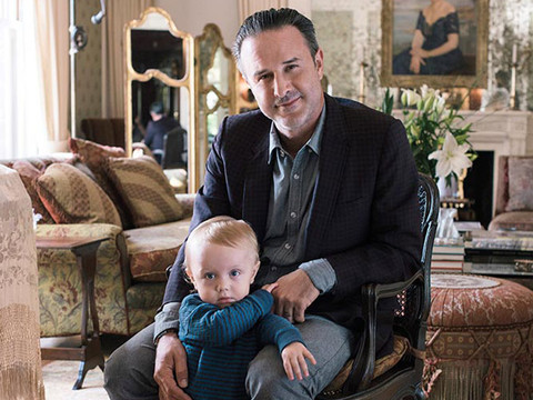 David Arquette Poses with Lookalike Son Charlie -- See Incredibly Cute Photo!