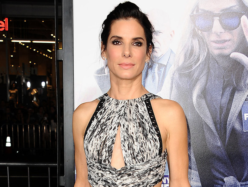 """Sandra Bullock Sizzles In Sexy Cutout Dress at """"Our Brand Is Crisis"""" Premiere"""