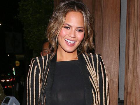Chrissy Teigen Steals Kim Kardashian's Style in Striped Balmain -- Who Wore It Better?!