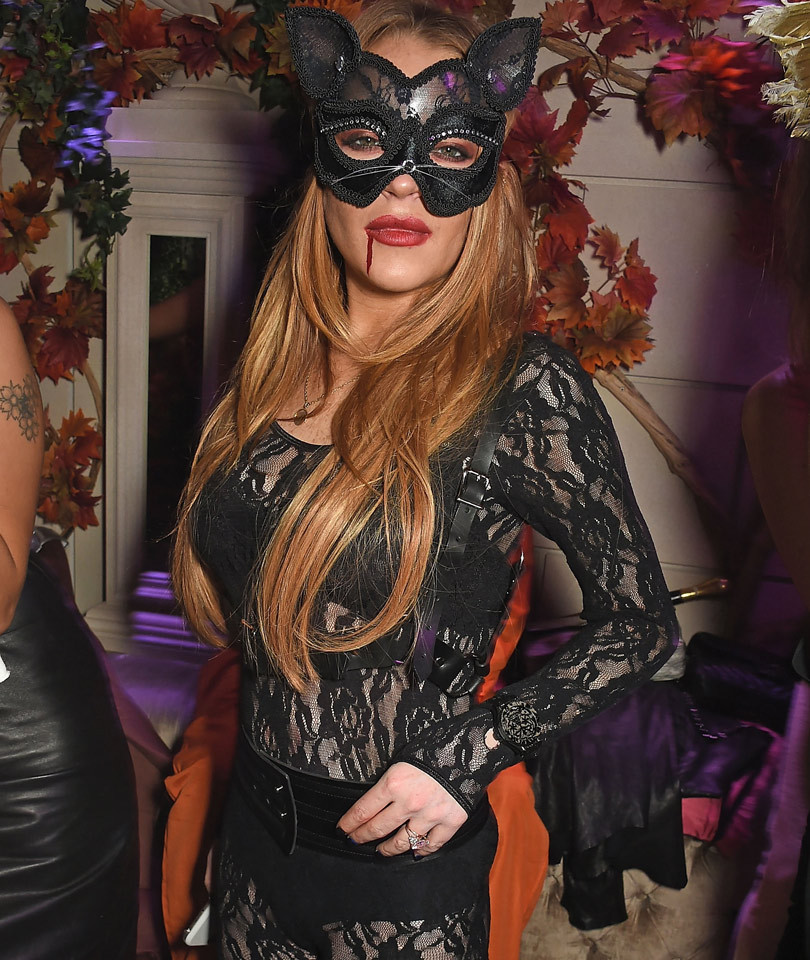She's a Cat, Duh! Check Out Lindsay Lohan's Sexy Halloween Costume