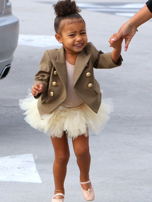 Look At That Smile! North West Is One Adorable Balmain Ballerina