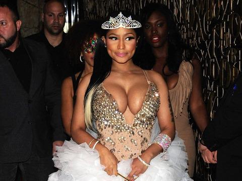 Nicki Minaj Flaunts Major Cleavage At Halloween Bash -- See Her Sexy Fairy Princess Look!