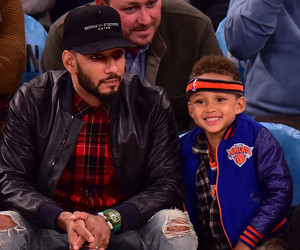 Alicia Keys & Swizz Beatz's Son Egypt Hams It Up at the Knicks Game