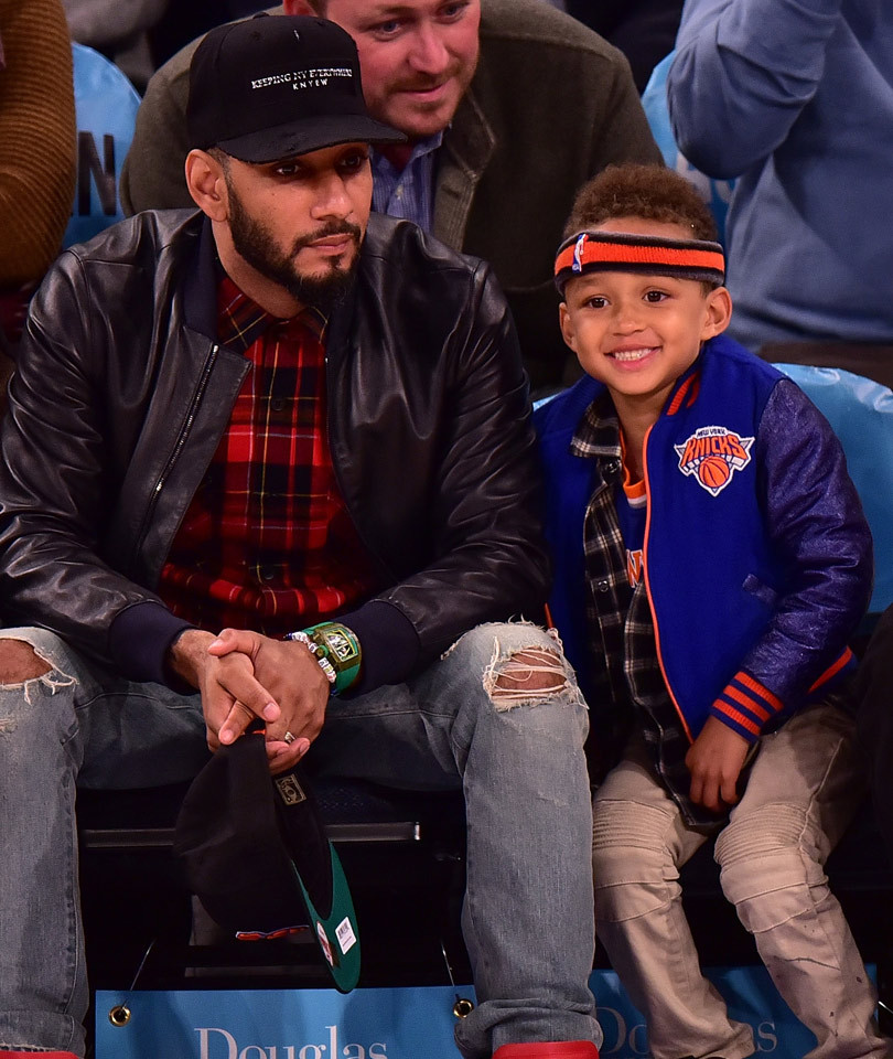 Alicia Keys & Swizz Beatz's Son Egypt Hams It Up at the Knicks Game