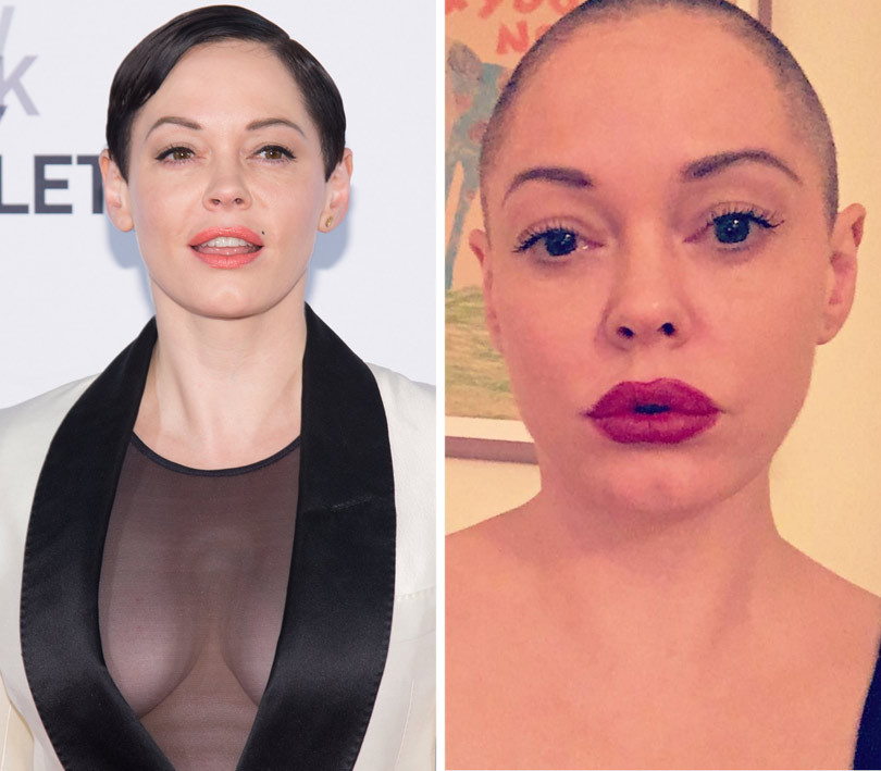 Rose McGowan Shaves Her Head -- See the Bold (and Bald) New Look!