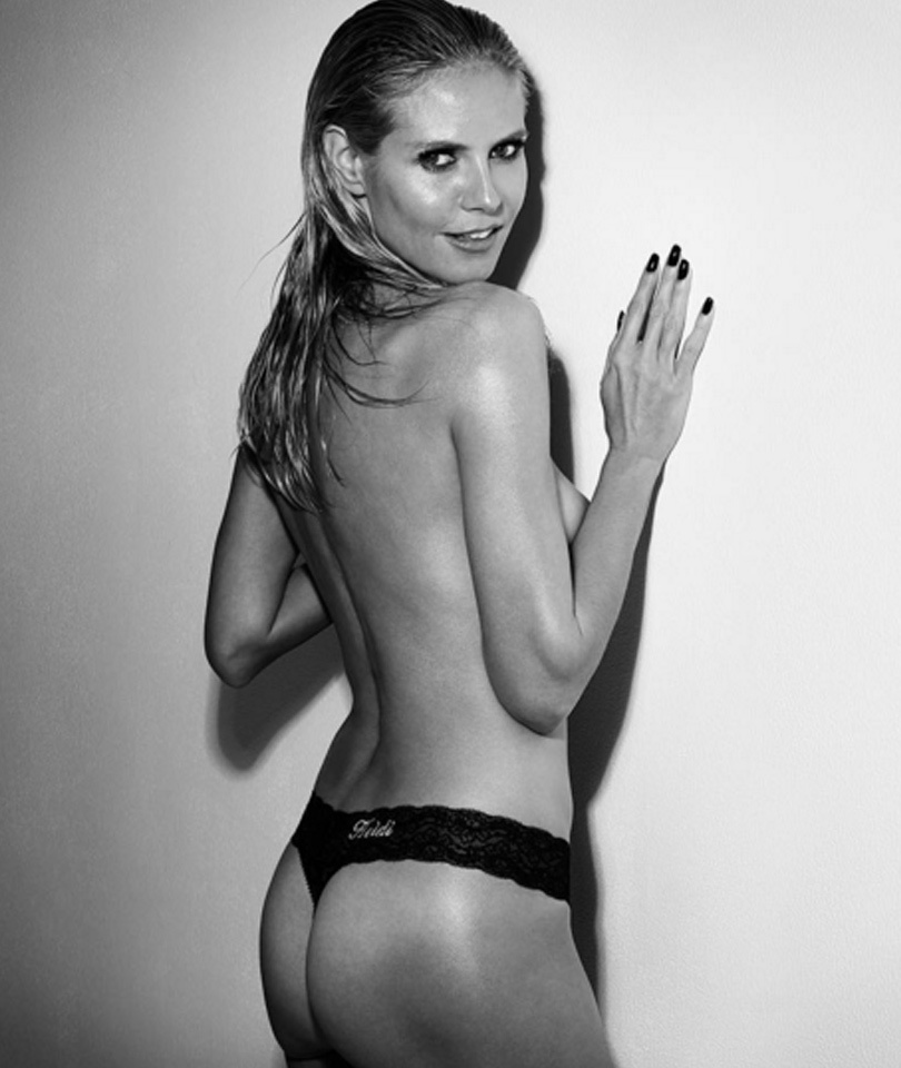 Heidi Klum Shows Off Her Bare Booty In Nothing But a Thong