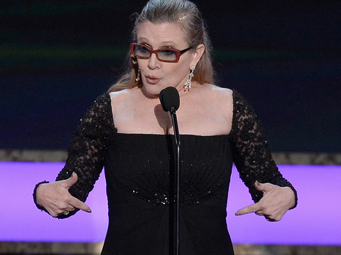 "Why Carrie Fisher Felt Pressured To Drop Weight For ""Star Wars: The Force Awakens"""