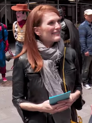 """Hilarious! See """"Billy On The Street's"""" Billy Eichner & Julianne Moore Ambush NYC Tourists"""