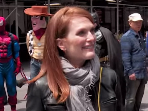 "Hilarious! See ""Billy On The Street's"" Billy Eichner & Julianne Moore Ambush NYC…"