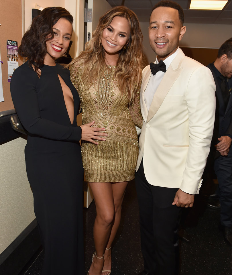 Alicia Keys Cradles Chrissy Teigen's Growing Baby Bump -- See The Cute Pic!