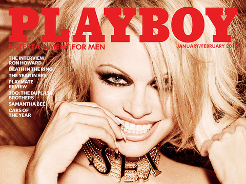 Pam Anderson Covers the Final Nude Issue of Playboy EVER -- And Her Teen Sons Approve!