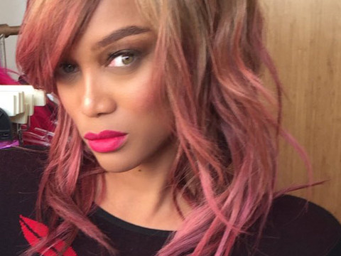Tyra Banks Debuts Bright Pink 'Do -- Like The Look?!