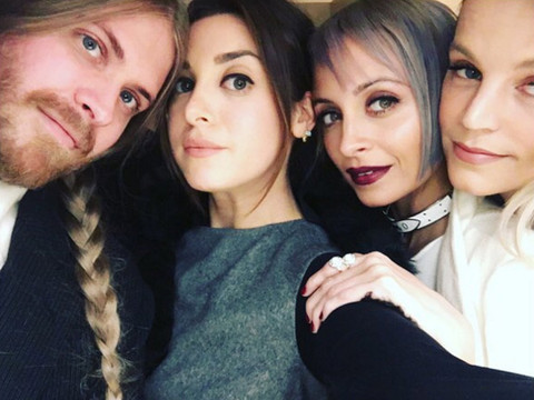Nicole Richie Debuts New Frosted Rainbow 'Do -- Better Than Blonde, Pink & Purple?!