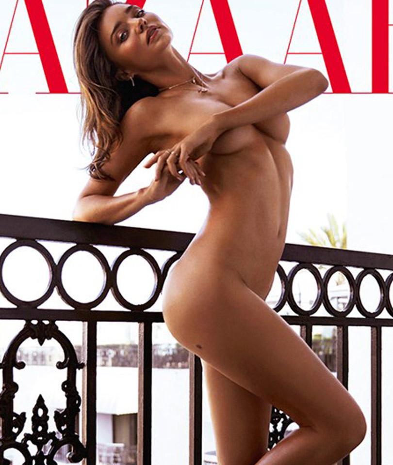 Hot Mama! Miranda Kerr Goes Completely Naked For Harper's Bazaar Australia