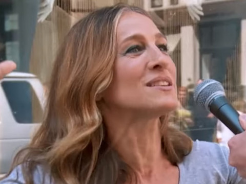 "Sarah Jessica Parker Plays ""Sex App or Santa's Reindeer?"" In New ""Billy On The Street"""