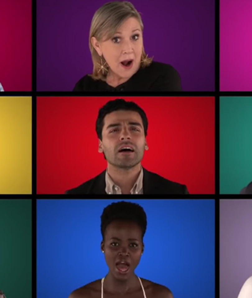 """Watch """"The Force Awakens"""" Cast Sing A Cappella Tribute to """"Star Wars"""" -- Yes,…"""