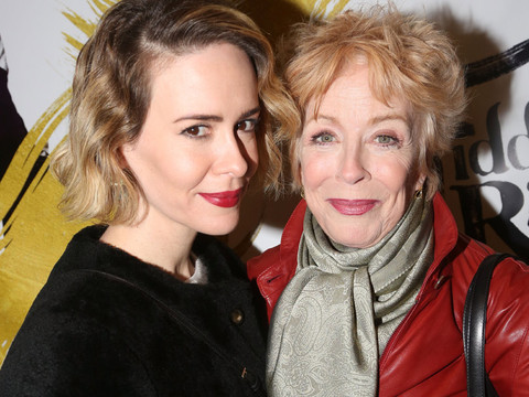"Sarah Paulson, 41, and Holland Taylor, 72, Get Cozy at ""Fiddler On The Roof"" Opening"