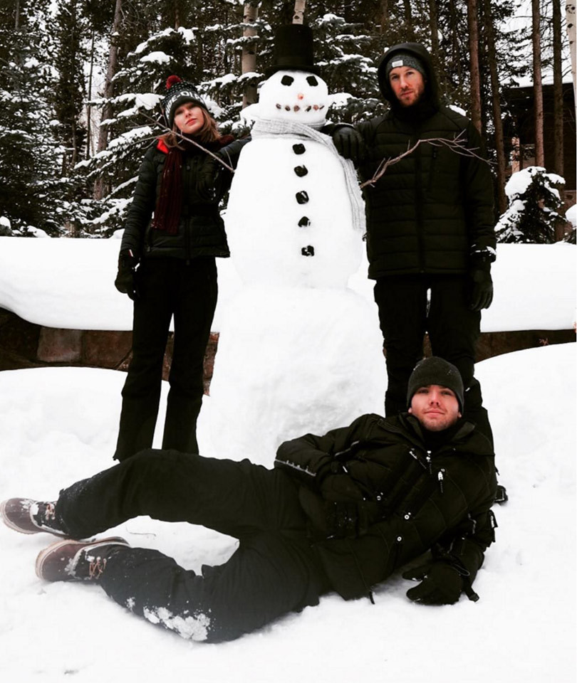 Taylor Swift and Calvin Harris Build a Perfect Snowman -- See More Stars in the…