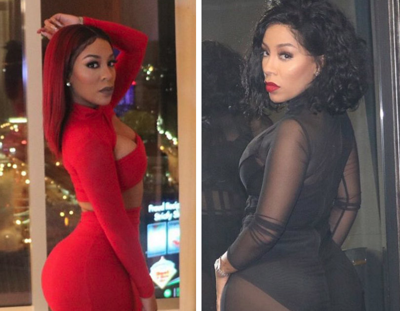 K. Michelle Debuts Smaller Booty -- Did She Remove Massive ... K Michelle 2013 Body