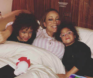 Mariah Carey Shares Sweet Snap Cuddled Up to Twins Moroccan & Monroe