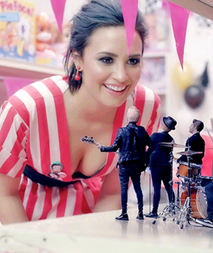 "Fall Out Boy & Demi Lovato Channel *NSYNC in ""Irresistible"" Music Video --…"