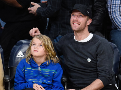 Chris Martin Brings Son Moses to the Lakers Game -- He's SO Big Now!