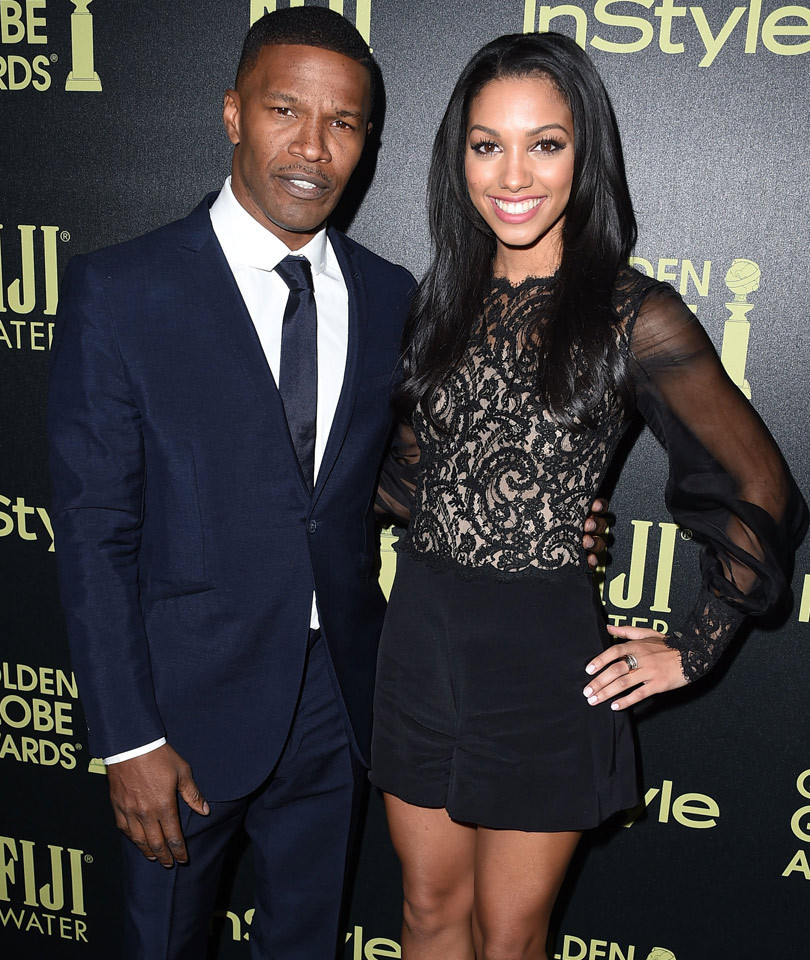 """Jamie Foxx & His Daughter Corinne Spoof """"Rocky"""" As He Trains Her For Miss…"""