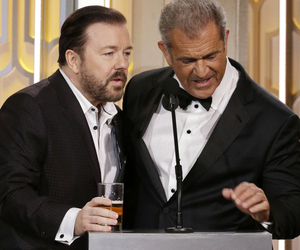 Here's What Ricky Gervais Said to Mel Gibson During That Awkward, Bleeped…
