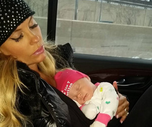 Coco Takes a Nap With Baby Chanel on Set -- She's Getting Big!