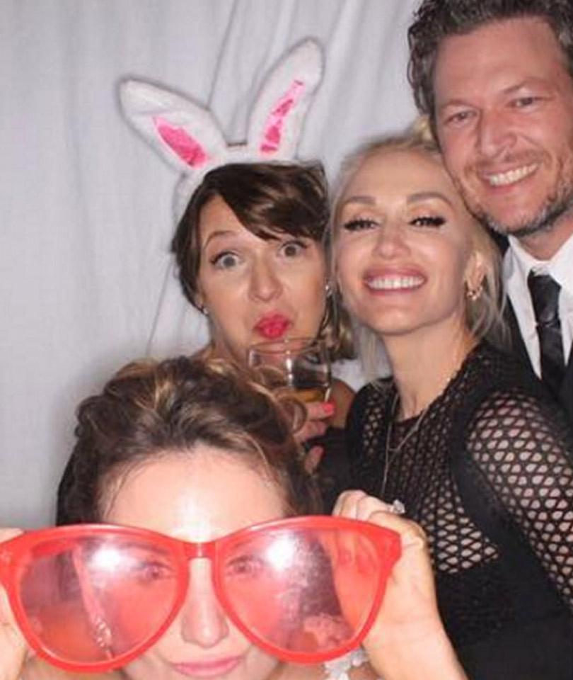Gwen Stefani And Blake Shelton Cozy Up In Wedding Photo