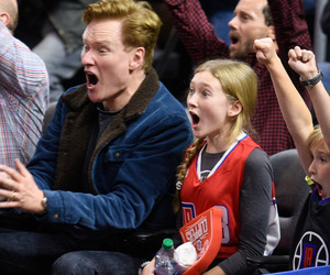 Conan O'Brien and His Daughter Neve Are the Cutest Clippers Fans
