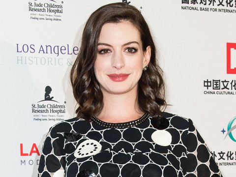 Anne Hathaway's Baby Bump Makes Red Carpet Debut at the L.A. Art Show Premiere Party