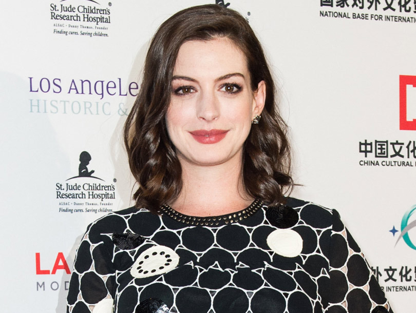 Anne Hathaway's Baby Bump Makes Red Carpet Debut at the L.A. Art Show Premiere…