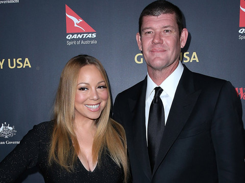 WOW! Mariah Carey Flaunts Her 35-Carat Engagement Ring on the Red Carpet