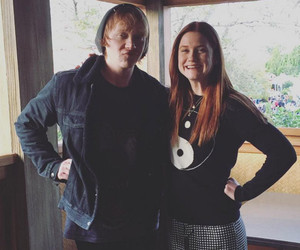 """Harry Potter"" Stars Rupert Grint & Bonnie Wright Have One Adorable Weasley…"