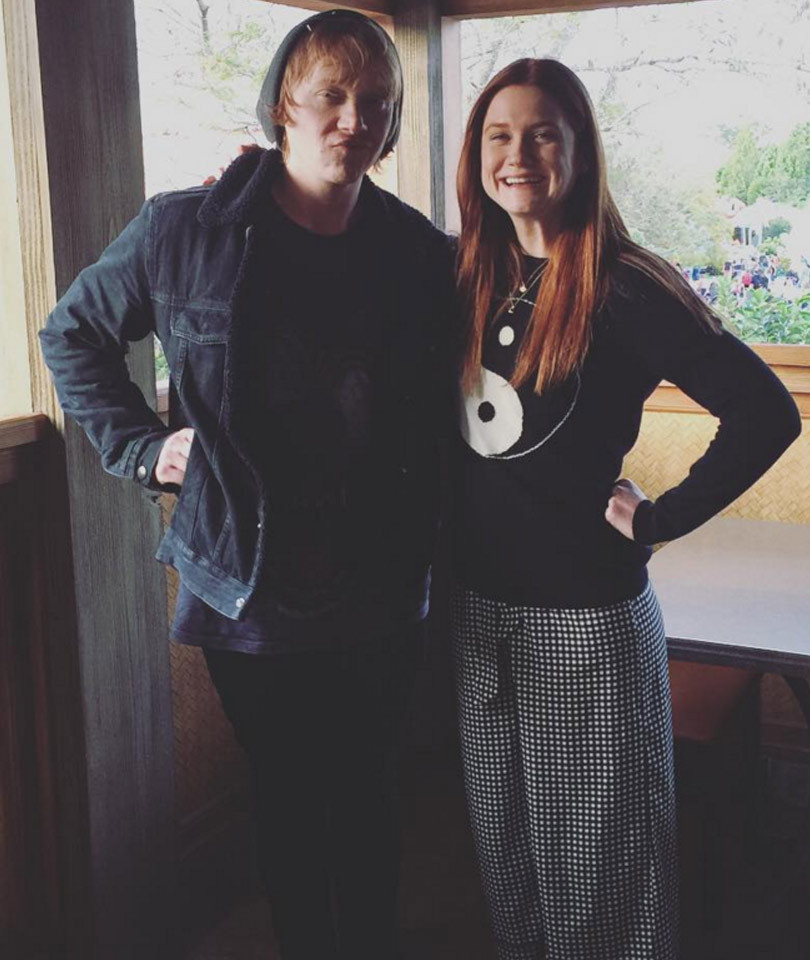 """Harry Potter"" Stars Rupert Grint & Bonnie Wright Reunite -- See the Cute Sibling Photo!"