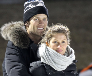 Tom Brady & Gisele Bundchen Show PDA at Son's Hockey Game -- See the Cute…