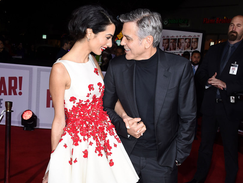 "George and Amal Clooney Look So In Love at the ""Hail, Caesar!"" Premiere"