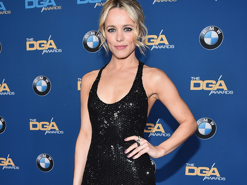 Rachel McAdams Sizzles In Slinky Black Gown at Director's Guild of America Awards