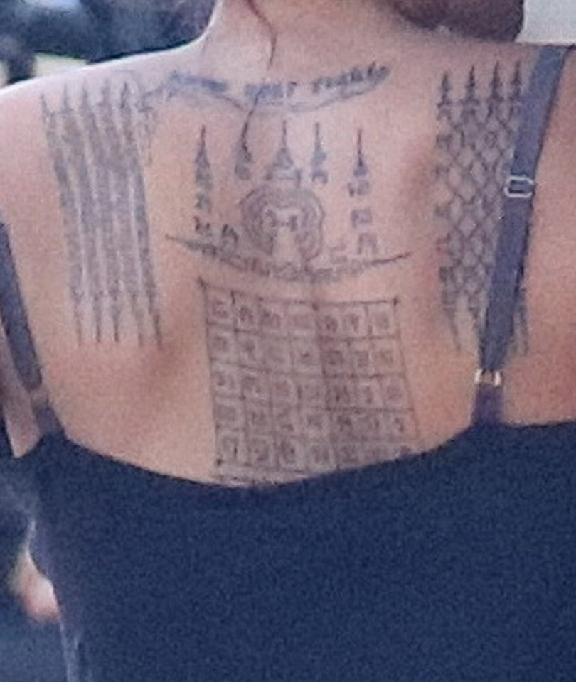 Angelina Jolie Got Three New Tattoos on Her Back -- And ...