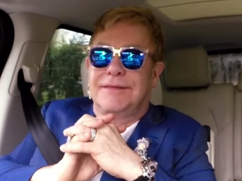 "Elton John Does ""Carpool Karaoke"" With James Corden -- See Their AWESOME Duets!"
