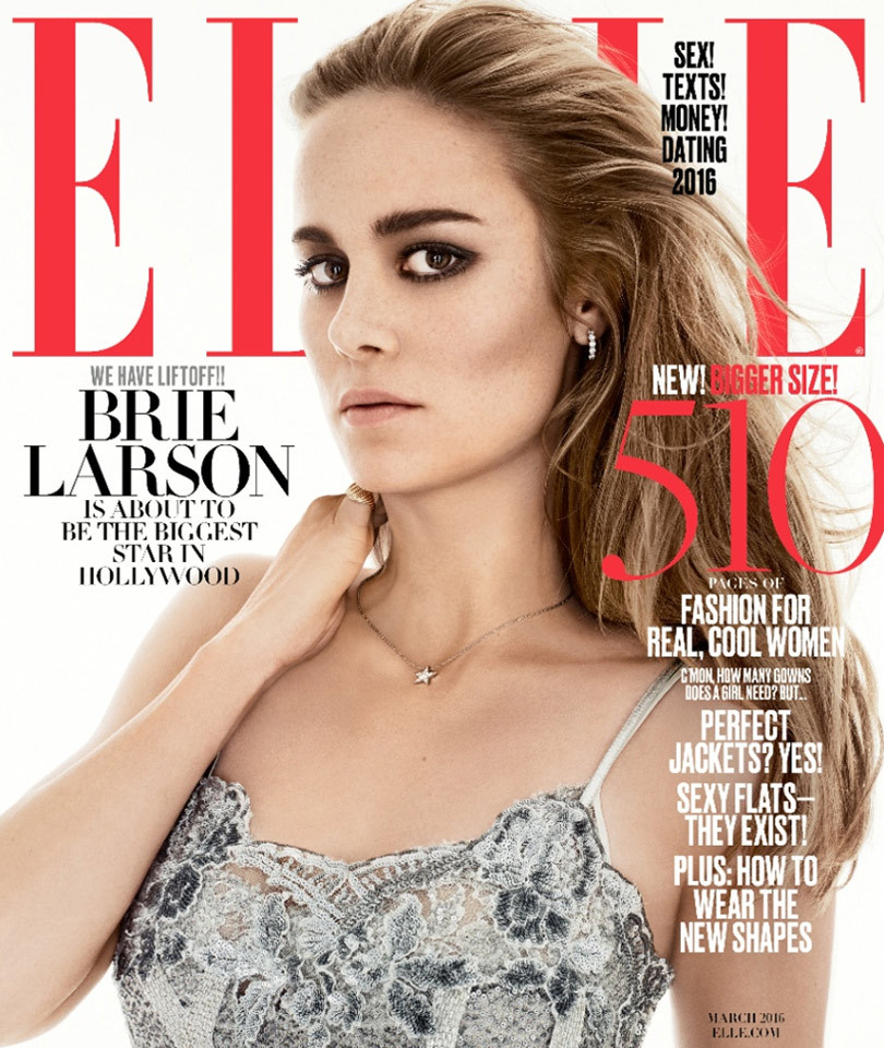 Find out why brie larson hasn 39 t seen her father in over for Where to buy elle magazine