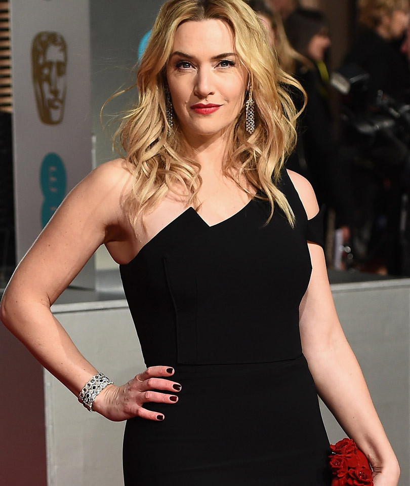 Kate Winslet Looks Beautiful In Black at the 2016 BAFTA Awards