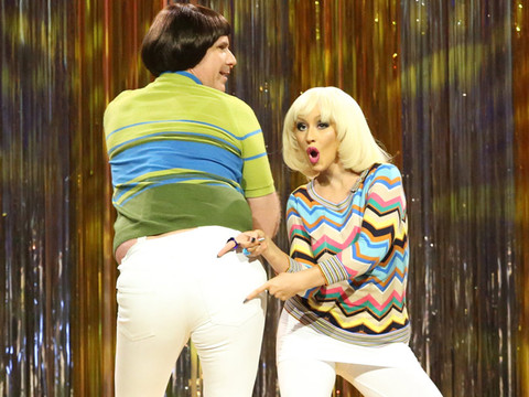 """You've Gotta See Christina Aguilera, Will Ferrell and Jimmy Fallon Fight About """"Tight…"""