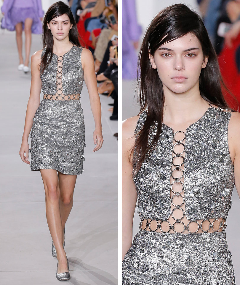 Kendall Jenner Opens Michael Kors' NYFW Runway ... with Nearly Any Makeup!