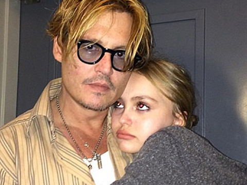 Wait, What?! Johnny Depp Saved Daughter Lily Rose's Hair After She Cut Bangs