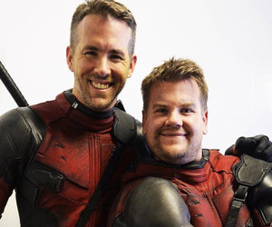 "James Corden Auditions To Be Ryan Reynolds' ""Deadpool"" Sidekick -- See The Funny Video!"
