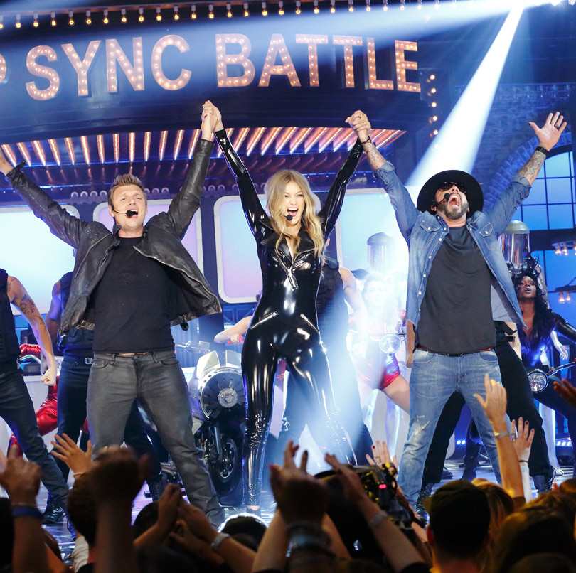 Gigi Hadid On Lip Sync Battle Video: Gigi Hadid Gets Some Help From Backstreet Boys Nick Carter