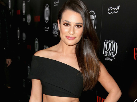Newly Single Lea Michele Flashes Rock-Hard Abs at Vanity Fair Young Hollywood Bash